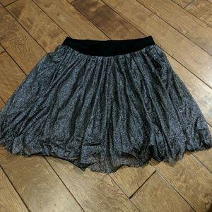 Torrid silver sparkly skirt sz 00